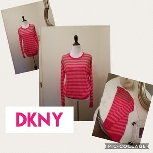 DKNY Striped Sweater in Rose Gold